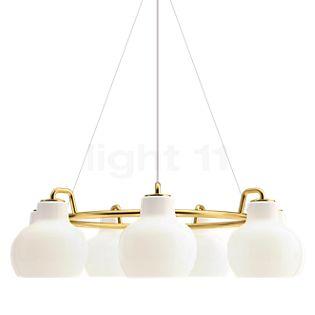 Louis Poulsen VL Ring Crown, lámpara de suspensión 7 focos latón