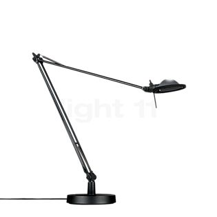 Luceplan Berenice Tavolo, noir réflecteur gris aluminium