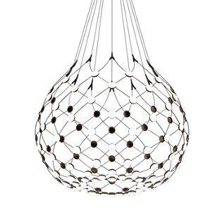 Luceplan Mesh ø100 cm LED incl. wireless-kit ophanging 1m incl. wireless-kit , uitloopartikelen