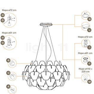 Luceplan Spare parts for Hope Pendant Light Part A: lenses with holder