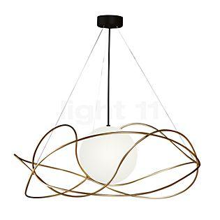 Marchetti Garbuglio SV, lámpara de suspensión con difusor de vidrio dorado/suspensión negra