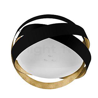Marchetti Pura PL60 Plafonnier LED noir/feuille d'or