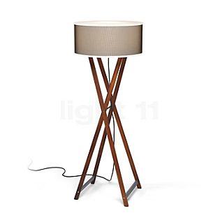 Marset Cala 140 Outdoor, lámpara de pie madera/marrón
