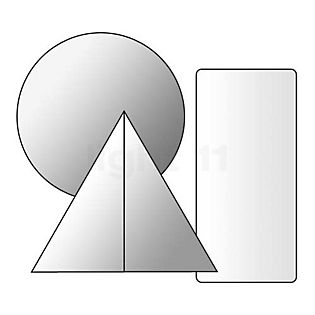 Marset Ersatzteil für Discoco Pendelleuchte Wall Plate White kleurloos , uitloopartikelen