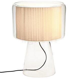 Marset Mercer Lampada da tavolo naturale con fascia in cotone
