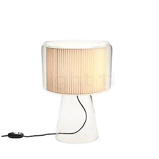 Marset Mercer M, lámpara de sobremesa natural con lazo de algodón