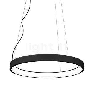 Martinelli Luce Lunaop Sospensione LED nero, ø80 cm, 2.700 K, dimmerabile