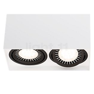 Mawa 111er angulaire Plafonnier LED 2 foyers 24° blanc mat