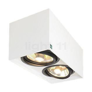 Mawa 111er rettangolare Lampada da soffitto/plafoniera HV 2 fuochi bianco opaco
