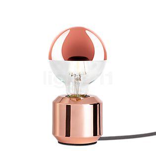 Mawa Oskar Lampe de table avec variateur cuivre brillant, câble gris