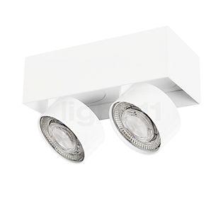 Mawa Wittenberg 4.0 Plafonnier à 2 têtes mi-rases LED blanc mat