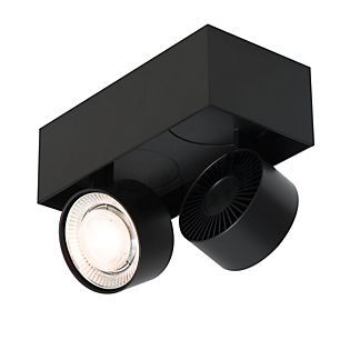 Mawa Wittenberg 4.0 Plafonnier à 2 têtes mi-rases LED noir mat