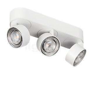 Mawa Wittenberg 4.0, lámpara de techo ovalada de 3 focos LED blanco mate