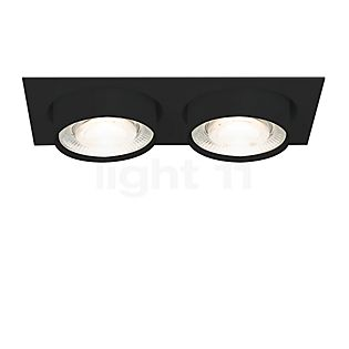 Mawa Wittenberg 4.0 recessed Ceiling Light angular with two spots LED excl. transformer black matt