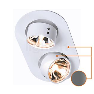 Mawa Wittenberg Deckeneinbauleuchte 2 oval grau metallic DB702