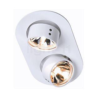 Mawa Wittenberg Loftindbygningslampe 2 oval hvid RAL 9016