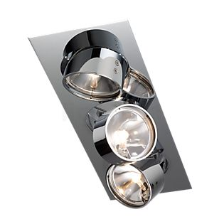 Mawa Wittenberg Plafondinbouwlamp hoekig 3-lichts chroom glanzend
