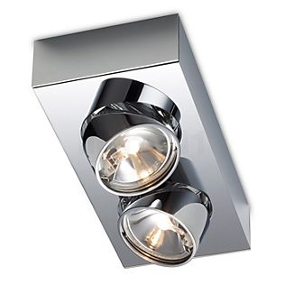 Mawa Wittenberg Plafonnier 2 foyers chrome brillant