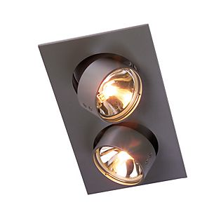 Mawa Wittenberg recessed Ceiling Light angular 2 lamps grey metallic DB702