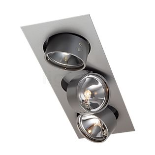 Mawa Wittenberg recessed Ceiling Light angular 3 lamps grey metallic DB702