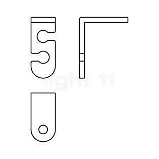 Morosini Kit de descentrar para lámparas de suspensión Morosini sin color