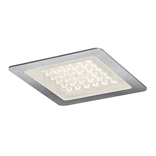 Nimbus Modul Q 36 IN wide beam recessed ceiling light brushed stainless steel, 3,000 K