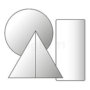 Nimbus Supporto a parete per Winglet Lampada da parete bianco