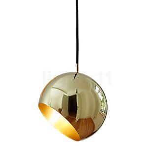 Nyta Tilt Globe Pendant Light brass/cable black