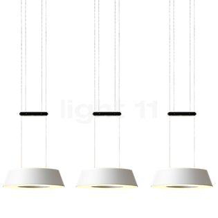 Oligo Glance Lampada a sospensione LED 3 fuochi nero opaco