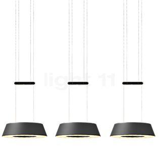 Oligo Glance Pendelleuchte LED 3-flammig grau matt