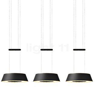Oligo Glance, lámpara de suspensión LED 3 focos negro mate