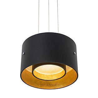 Oligo Trofeo Suspension LED avec contrôle gestuel noir mat/doré