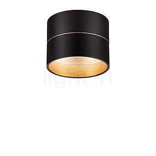 Oligo Tudor Plafonnier S LED noir mat/feuille d'or