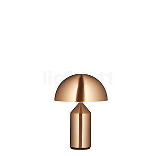 Oluce Atollo Tafellamp metaal goud met schakelaar, ø25 cm