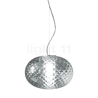 Oluce Recuerdo, lámpara de suspensión LED transparente