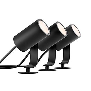 Philips Hue Lily LED Base Kit, set van 3 zwart