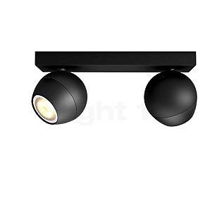 Philips Hue White Ambiance Buckram Spot 2-flamme + Dim Switch sort