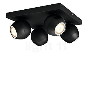 Philips Hue White Ambiance Buckram Spot 4 foyers + Dim Switch noir