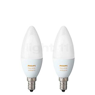 Philips Hue White Ambiance Doppelpack, E14 ohne Farbe