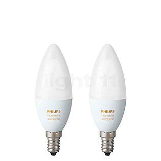 Philips Hue White Ambiance Pack de 2, E14 incolore