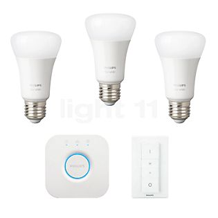 Philips Hue White Starter Set, E27 weiß