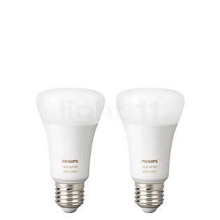 Philips Hue White and Color Ambiance Doppelpack, E27 ohne Farbe
