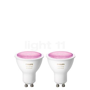 Philips Hue White and Color Ambiance GU10 pack doble blanco