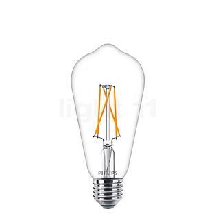 Philips ST64-dim 8,5W/c 822/827, E27 LEDclassic kleurloos , uitloopartikelen