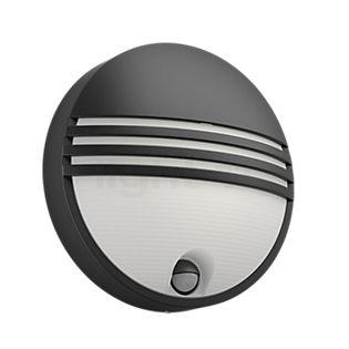 Philips Yarrow, lámpara de pared con sensor de movimiento negro