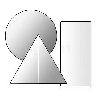 Prandina Fixation-plafond décentralisée pour suspensions Prandina incolore