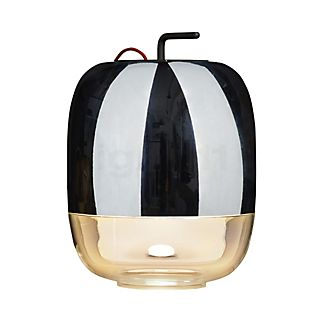 Prandina Gong T3 tamisable câble rouge/diffuseur argenté