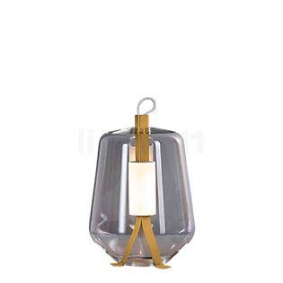 Prandina Luisa T1, lámpara de sobremesa LED latón/cristal