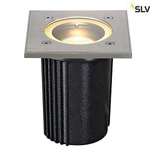 SLV Dasar Exact GU10, lámpara de suelo empotrable circular , artículo en fin de serie