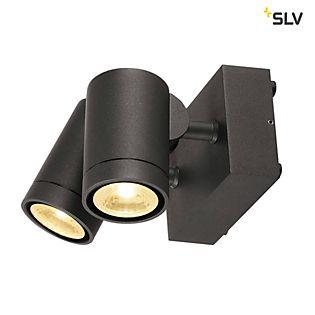 SLV Helia Double, lámpara de pared LED ajustable blanco